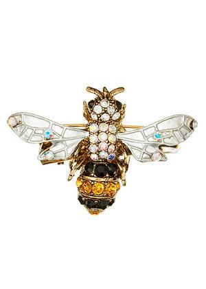 Golden bee brooch