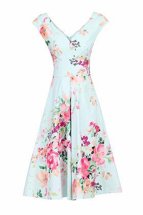 Sweetpea floral dress in mint green