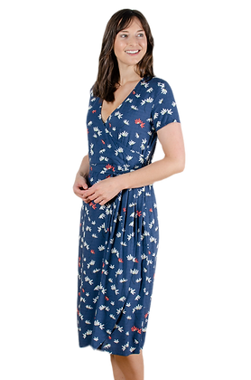 Grassland midi dress in navy