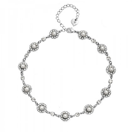 Grace pearl diamonte necklace