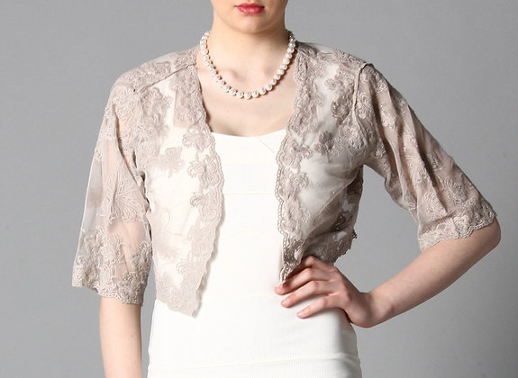 Lace jacket in mocha