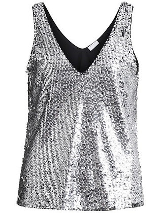 Silver sequin party top