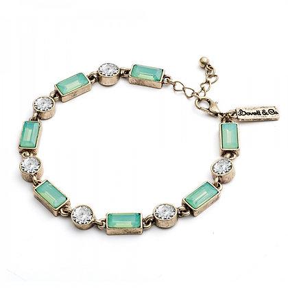 Aqua Milkstone 1950's bar style bracelet