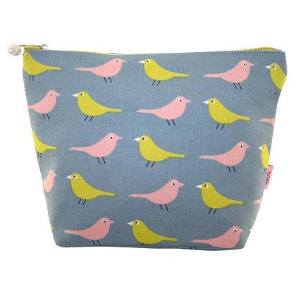 Birdie large cosmetic purse in pale blue