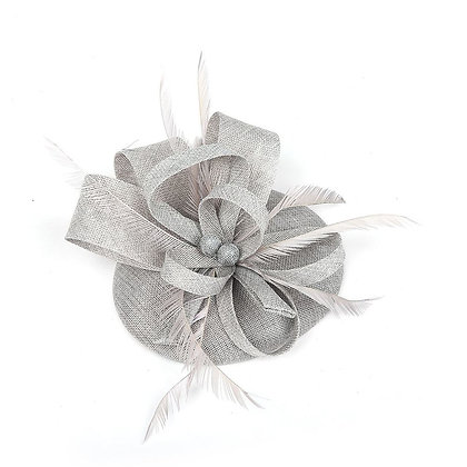 Silver fascinator on band