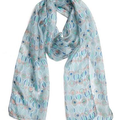 Sagrada ice blue pure silk scarf