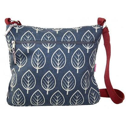 Leaf messenger bag in blue