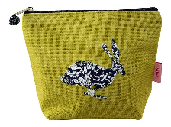 Hare cosmetic purse in citrus