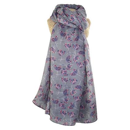 Dandelion scarf in mauve & coral