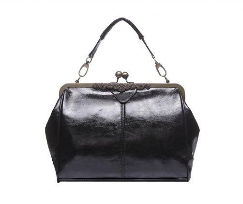 Vintage style handbag black