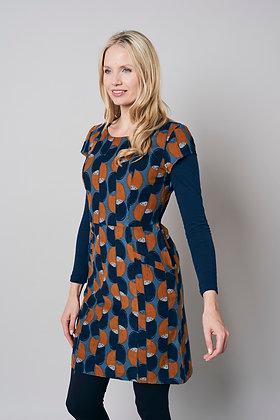 Pincord circle print dress
