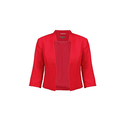 Crop jacket in bright red