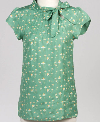 Daisy blouse in green