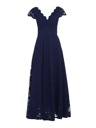 Swing lace gown in navy