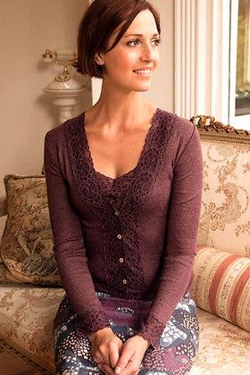 Gabriella Knight lace cardigan cocoa