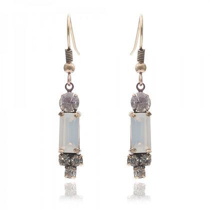 Milkstone 1950's bar style earrings