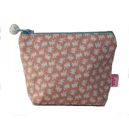 Rabbit mini purse in coral