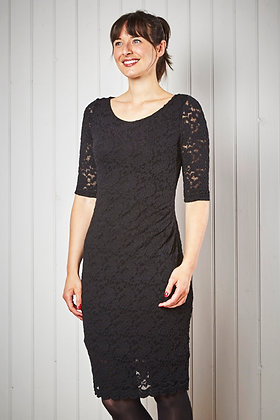 Elegant lace pencil dress in black