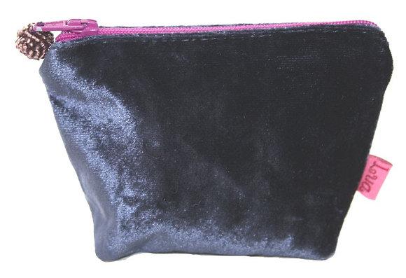 Velvet mini purse in blue