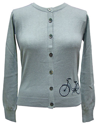 Cycle cardigan in grey