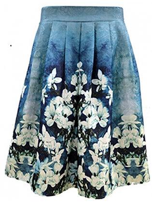 Vintage watercolour border skirt