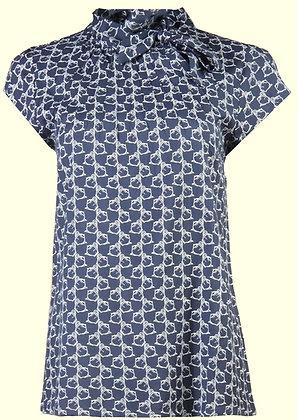 Kettle blouse in ink blue