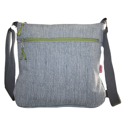 Stripes messenger bag in grey