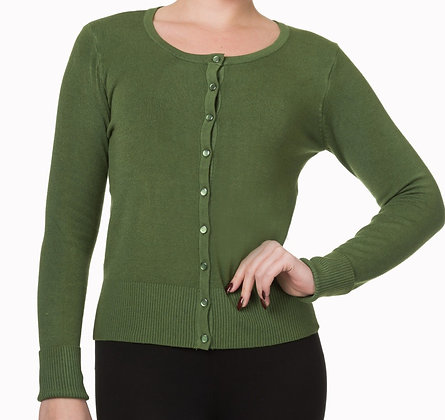 Cardigan in olive green