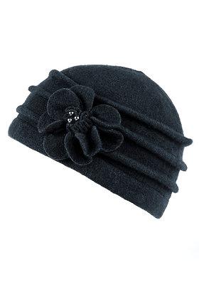 Cloche hat in navy