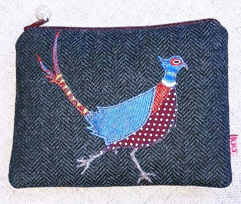 Pheasant applique purse