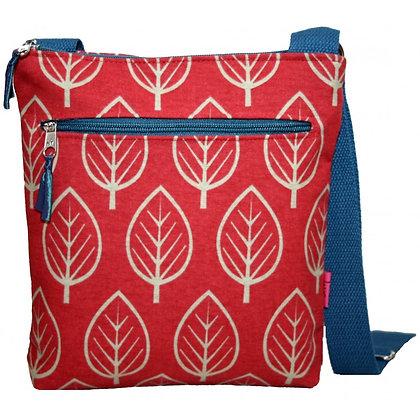 Leaf crossbody bag in red