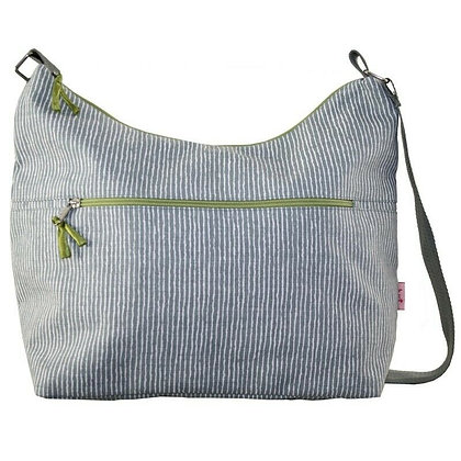 Stripe print sling bag