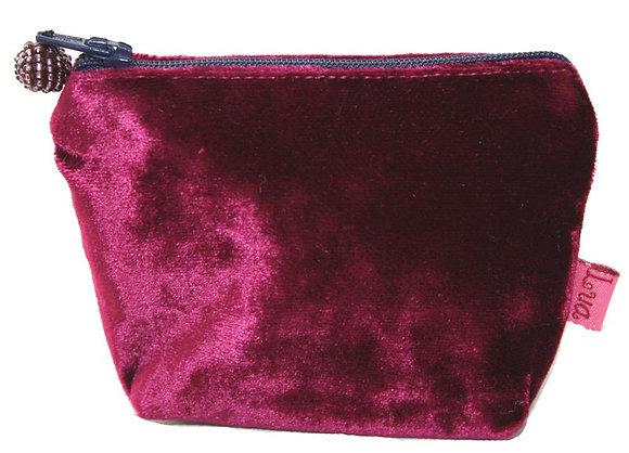 Velvet mini purse in burgundy