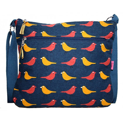Birdie messenger bag in yellow/red