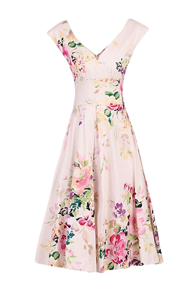 Floral swing dress in pink