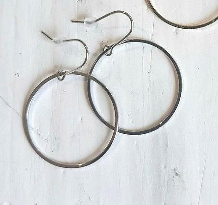 Small hoop earrings in silver