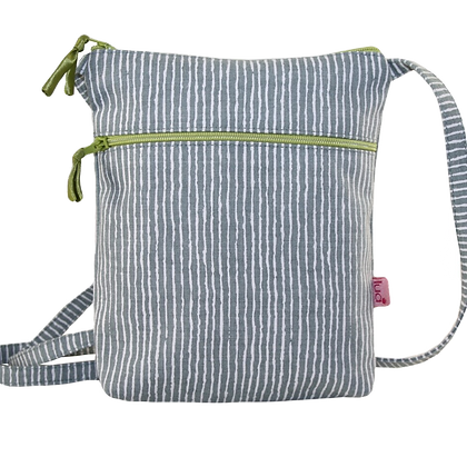 Stripes mini bag in grey