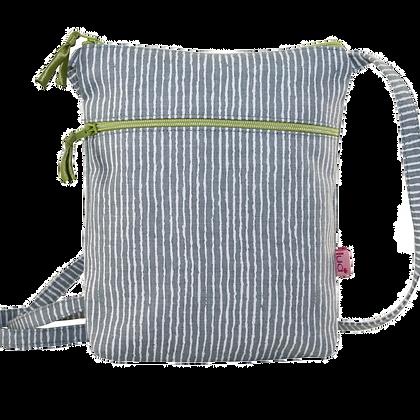 Stripes mini bag in grey