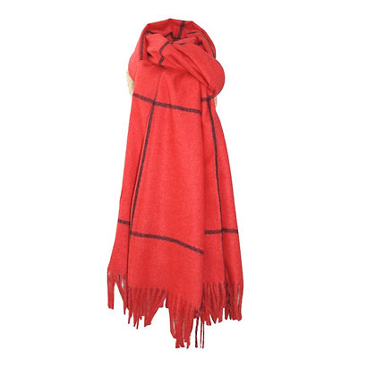 Check scarf in red and black