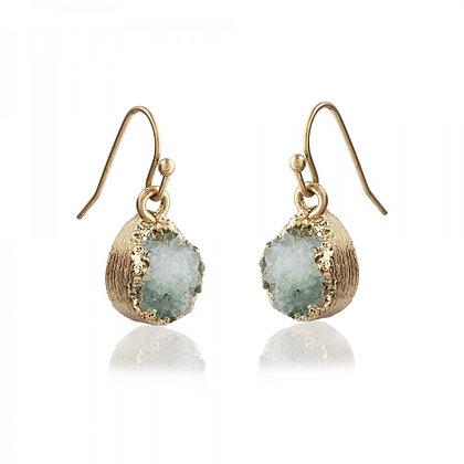 Druzy stone drop earrings