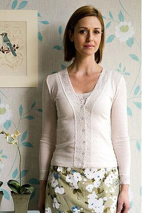 Gabriella Knight lace cardigan in cream