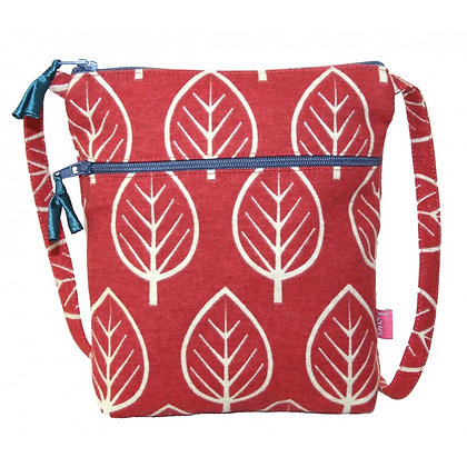 Leaf mini bag in red