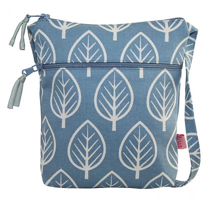 Leaf mini bag in blue