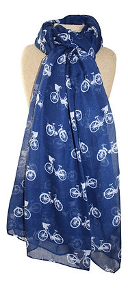 Bicycle scarf in navy