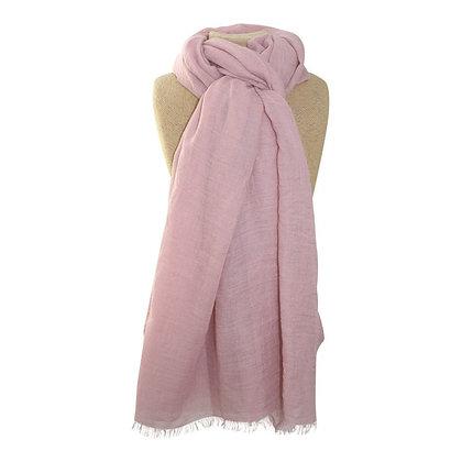 Plain scarf in dusty pink