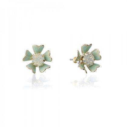 Enamel stud floral earrings