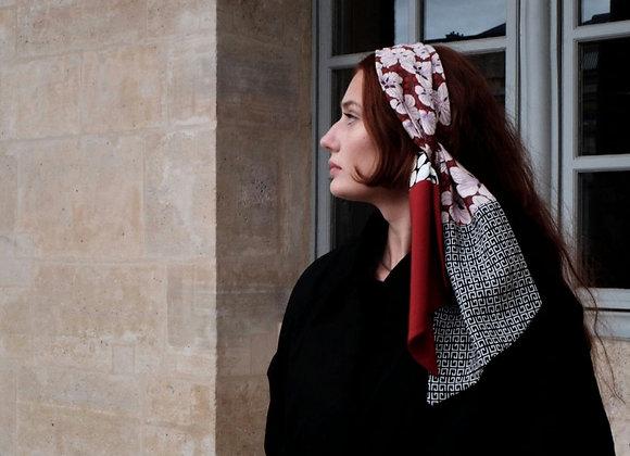 Foulard en soie Bora- Alix de la Chapelle