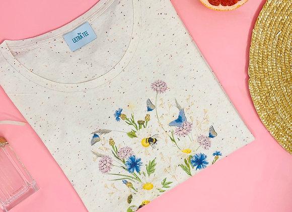 Tee shirt Fleurs et papillons-Ultra Tee
