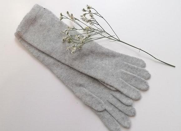 Gants longs gris