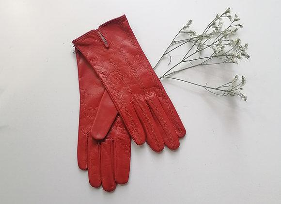 Gants rouges en cuir